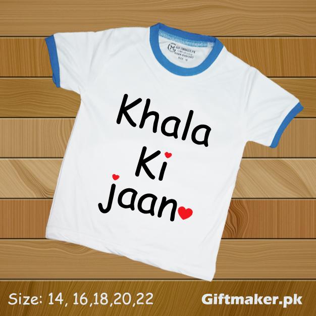 Khala Ki Jaan Print T Shirt for Kids Boys and Girl Both