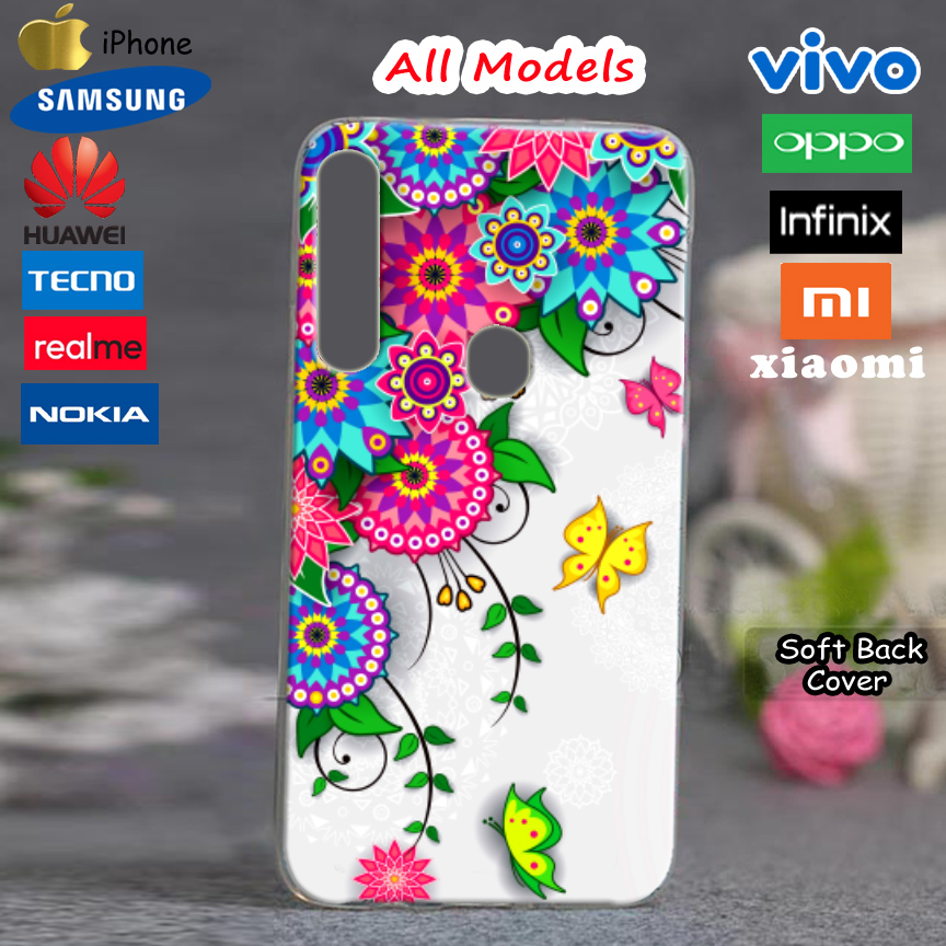 Flowers Girls Style Mobile Cover TPU Silicon