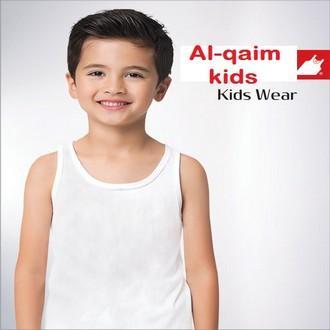 Pack of 2-white 100% Cotton sando vest / buniyan for kids / children vest / junior vest