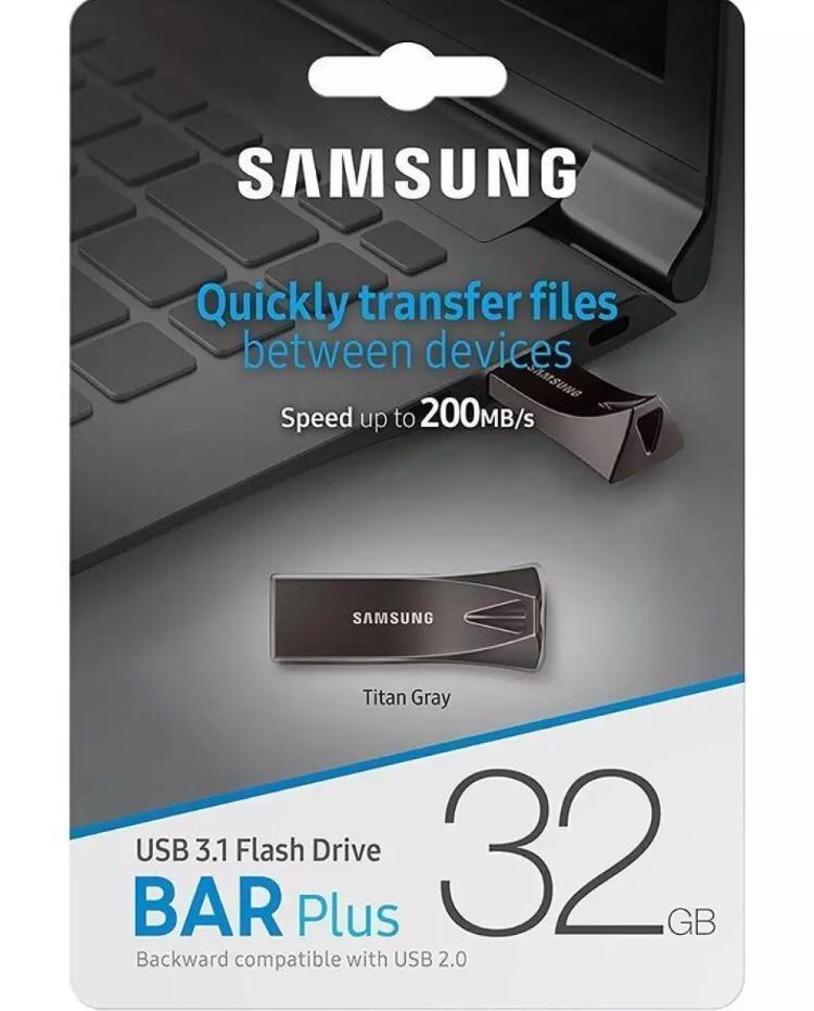 32GB BAR Plus Metal USB Flash Drive , 6-Months WARRANTY