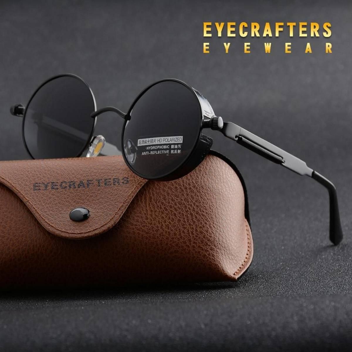 Black Lens Sunglasses Polarized Glass Lens Vintage Eyewear Accessories Sun Glasses For Men And Women