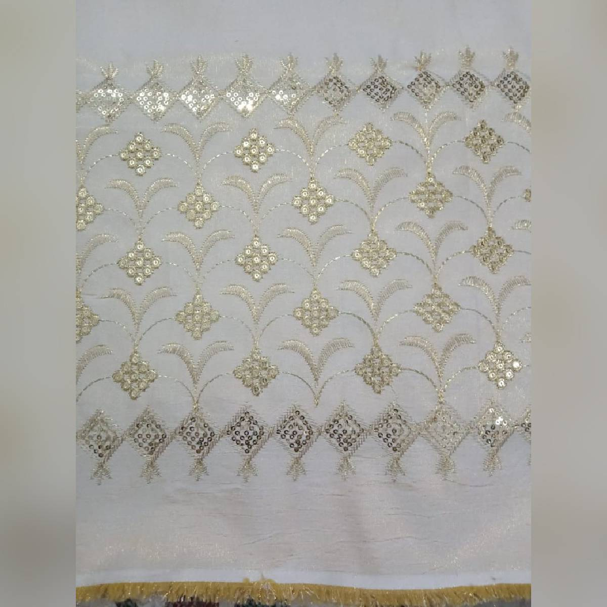 Mysori Embroidered Sequence Trouser FL-T1 Unstitched