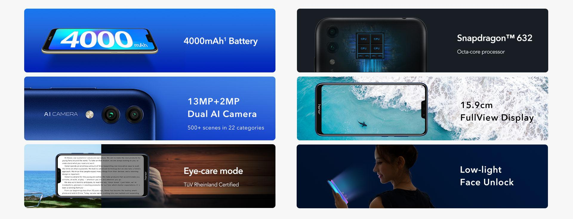 Honor 8C Features