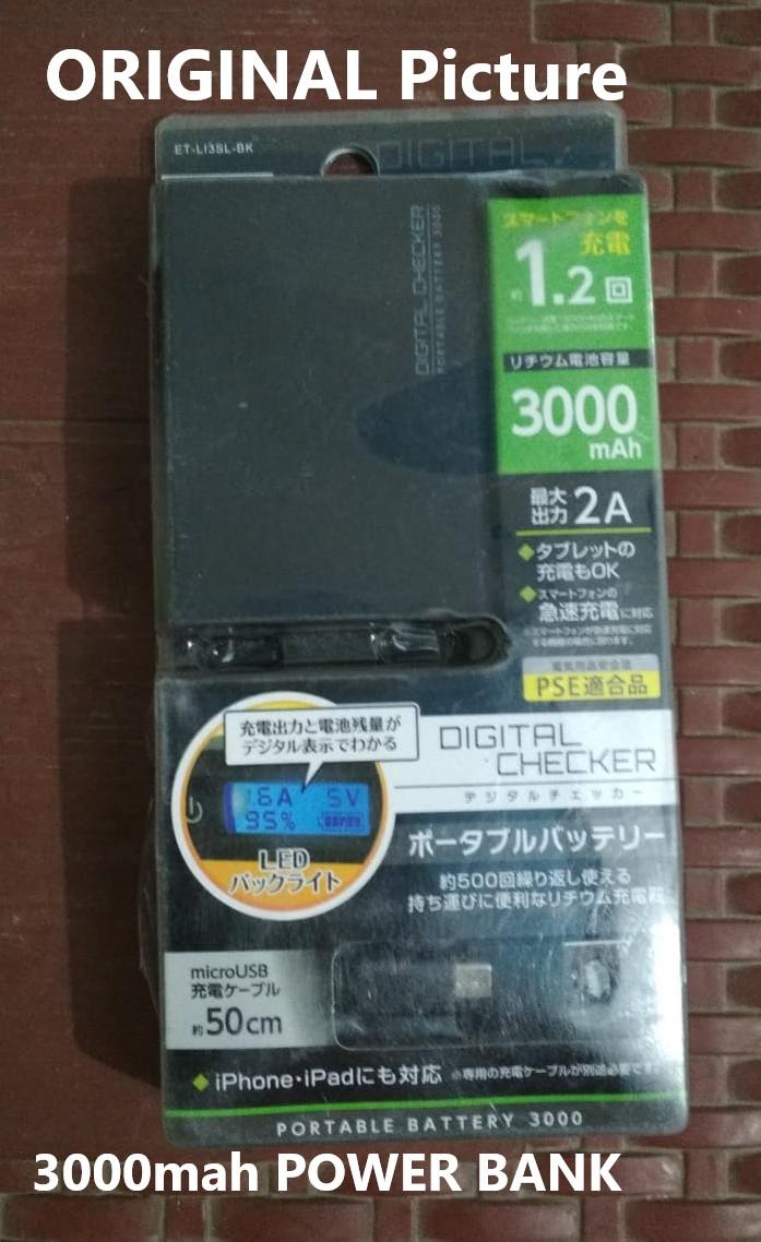 3000 mAh Powerbank / 5000 Power Bank  Portable Battery POWERBANK Cable