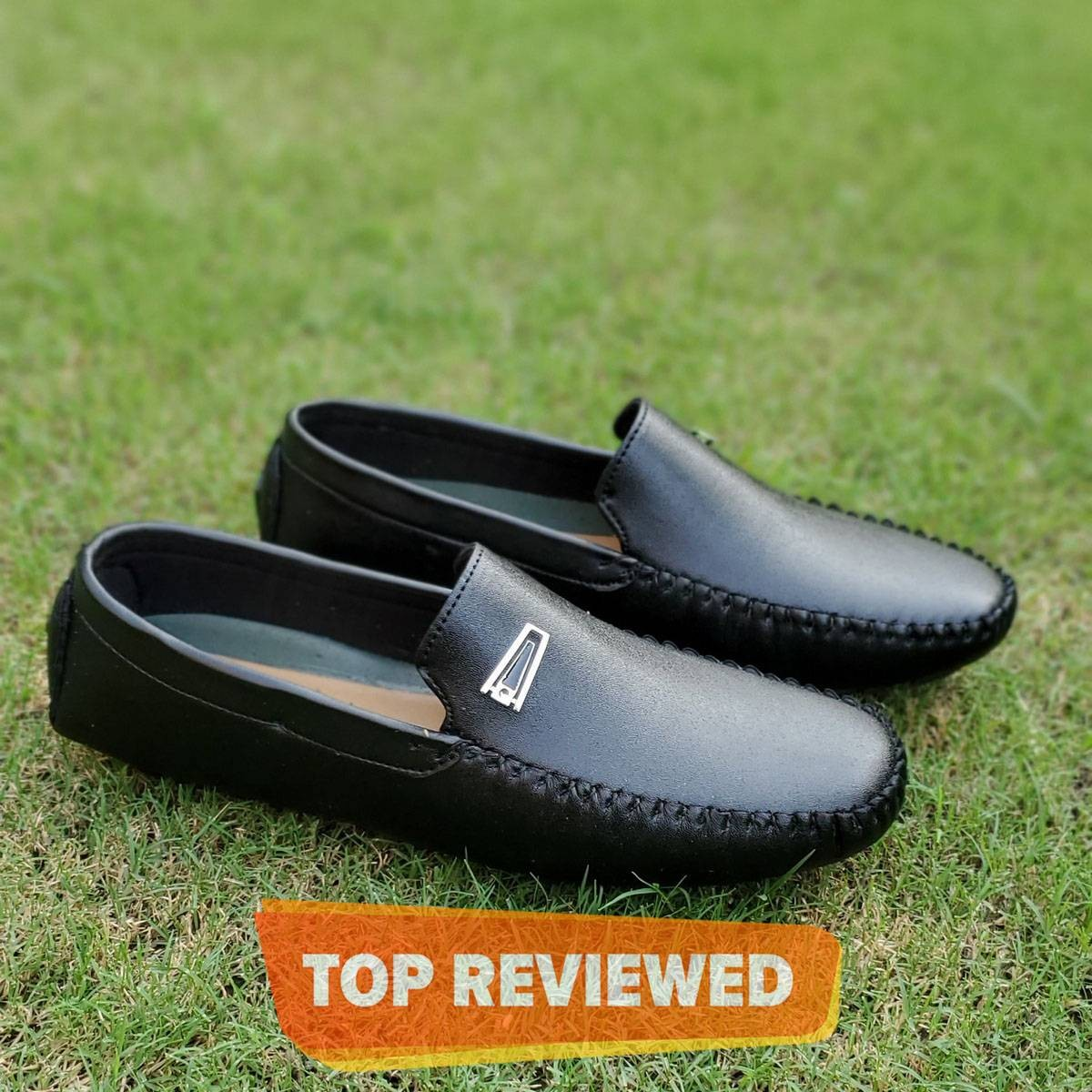 Black Importia Synthetic Leather Loafers For Men