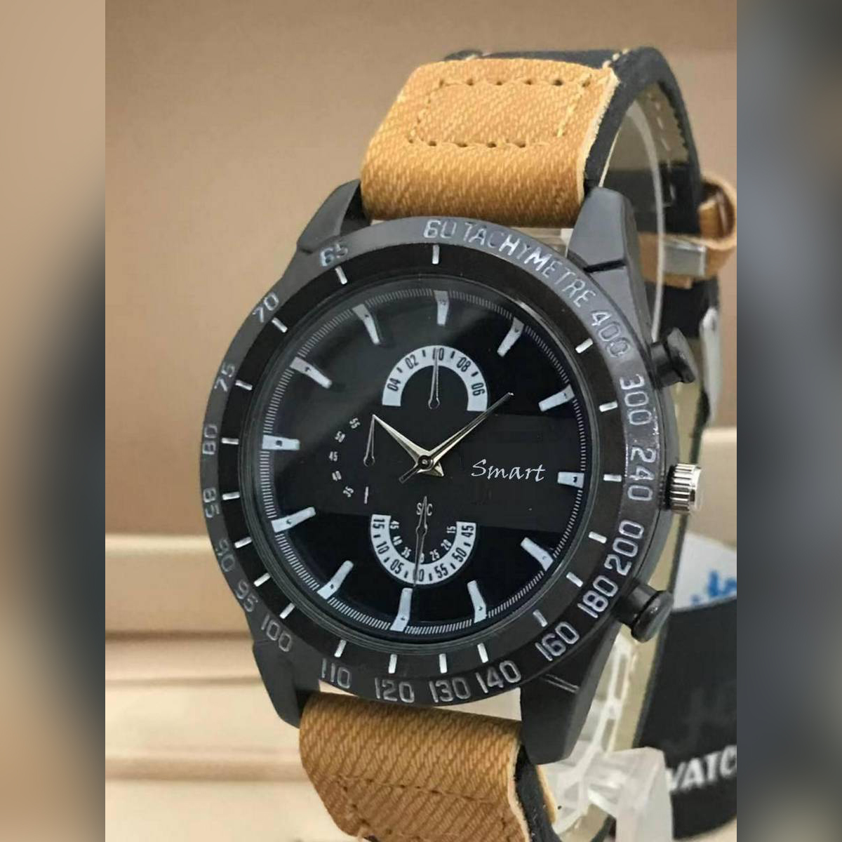Latest Designer Leather Strap Dual Tone Contrast Casual Watch for Men Quartz Watches New Fashion Casual And Party Wear and Gifts