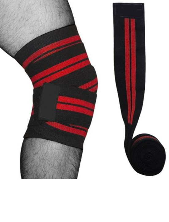 Knee Wraps For Power Weight Lifting - Black
