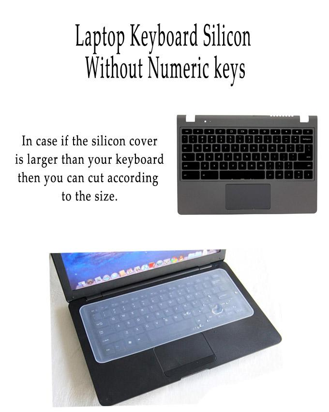 Laptop Keyboard Silicon Cover Transparent