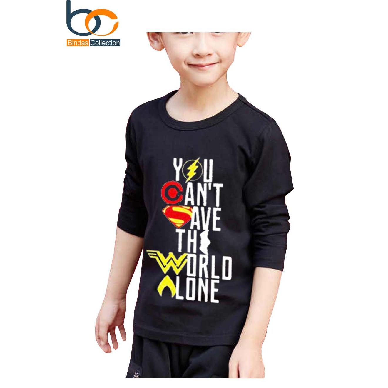 Justice League T-shirt - Black For Kids