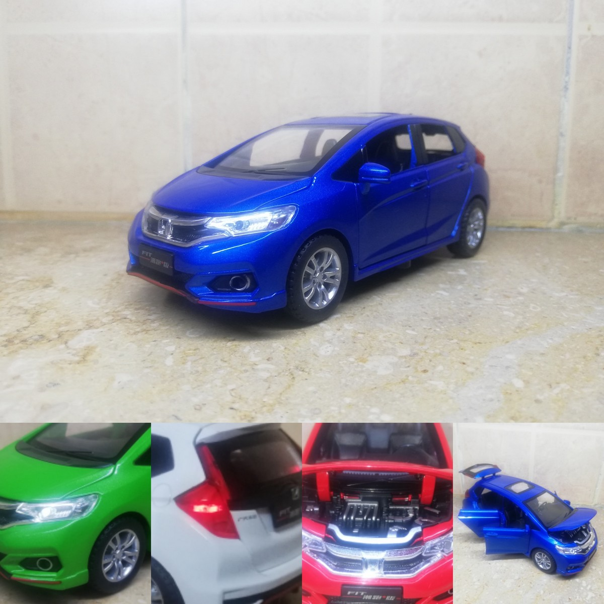 Honda Fit 1:32 Diecast Metal Model Cars Collectable Alloy Toy Car 6 inch Pakistan/ Pakistani Models Blue Red Green White