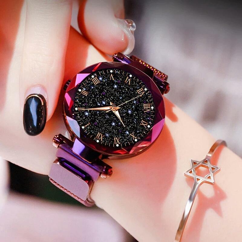 Premium Quality Elegant Fashion Magnet GOLDEN Chain Watch For Girls Best Wristwatch for Gift 2020