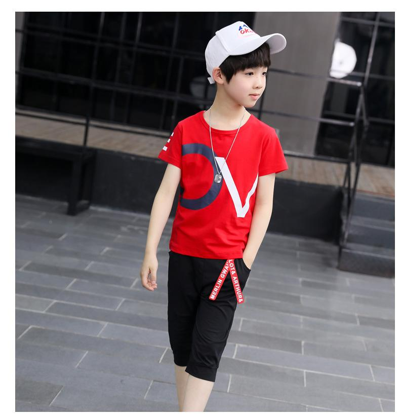 936040e89 6 months-5 years baby boy summer fantastic OV printed red shirt with  imported shorts