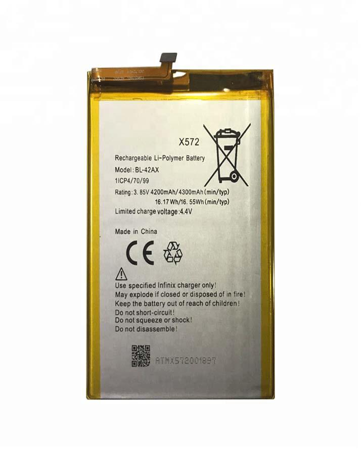 BL-42AX Battery For Infinix Note 4 X572 - 4300mAh - Silver
