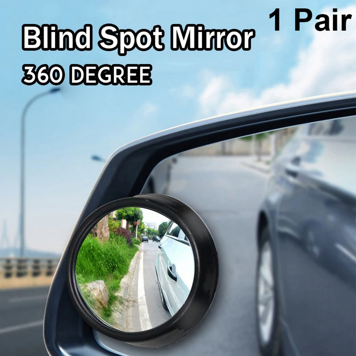 Universal Blind Spot Mirror For Car Wide Angle Round Convex Rear View 360 Degree Rotatable Reversing Lens Parking Assist Dead Zone Side Park Assistance