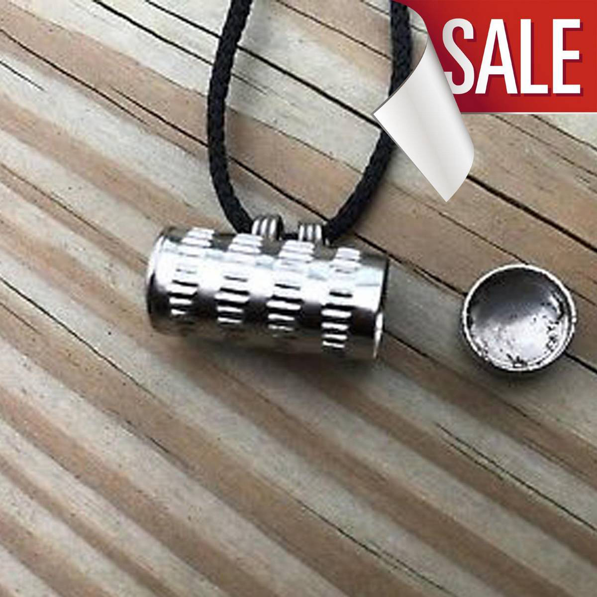 Taweez Box Pendant Antique Style.With Black Cord