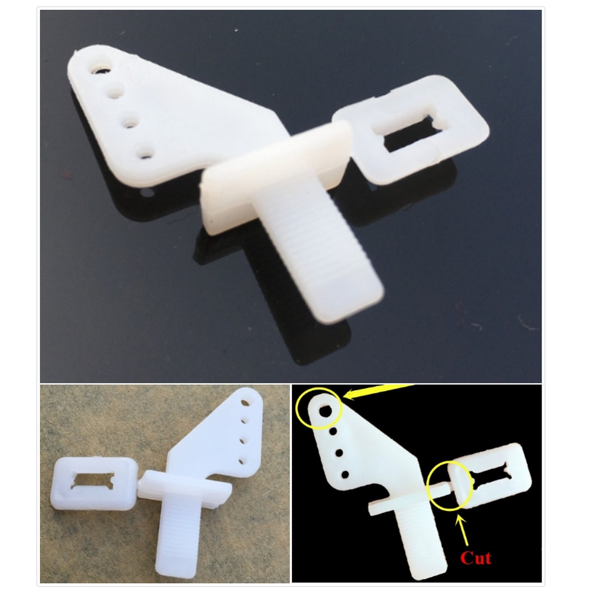 5/Pcs Plug-in KT Rudder angle control horns zip For Rc Plane