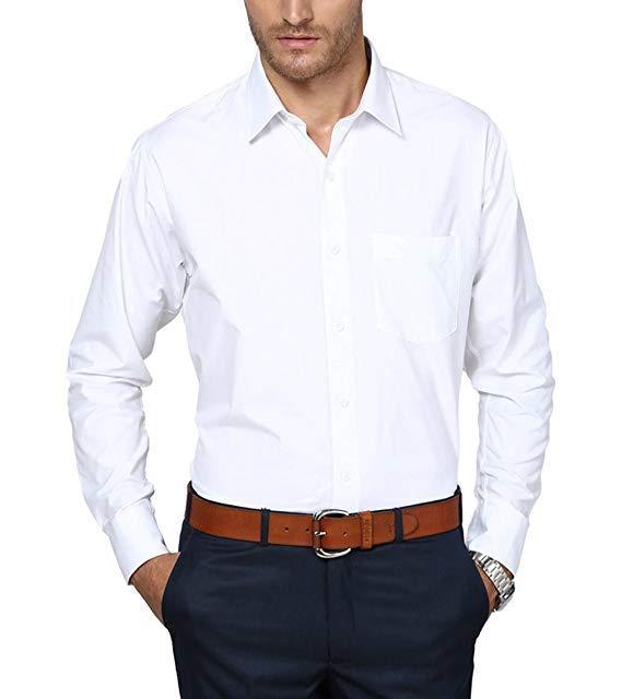Dress Shirt For Men -  Cotton - White