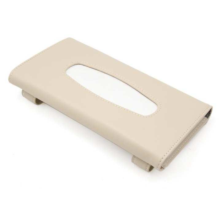 Premium Sun Visor Car Tissue Box Holder with 50 Free Tissues Vehicle Tissue Dispenser