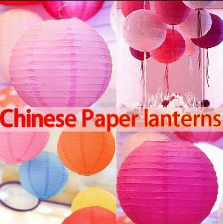 5 pieces of Round Chinese Paper Lanterns