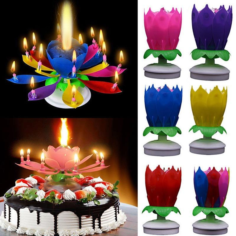 Product Details Of Amazing Musical Rotating Flower Birthday Candle Party Sparkling Fountain