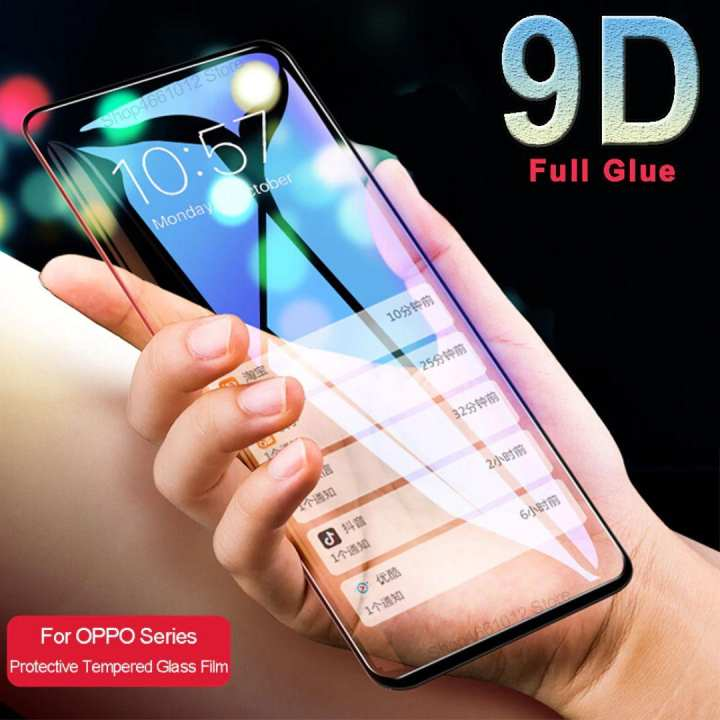 9D Tempered Glass, Full Coverage Edge to Edge Screen Protector Protective Film Compatible with oppo f11