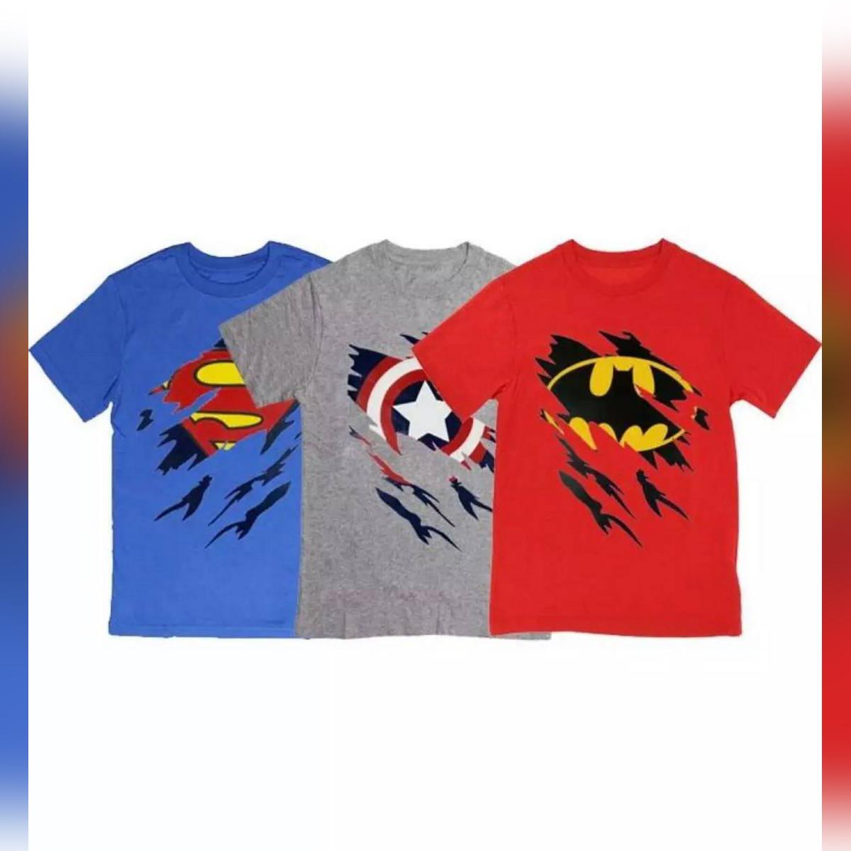 Pack Of 3 Smart Printed Super Hero Tshirt For Kids
