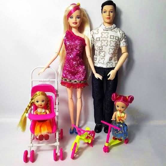 Doll Family Set Toy Doll Father And Small Doll Toy For girls And kids