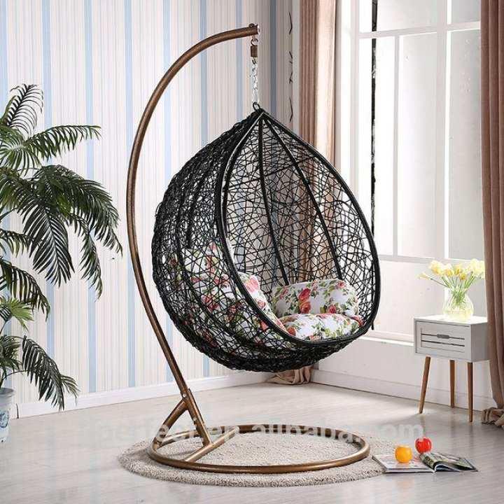 Outdoor Patio Garden Living Room Rattan Wicker Bird Nest Swing Hanging Chairs