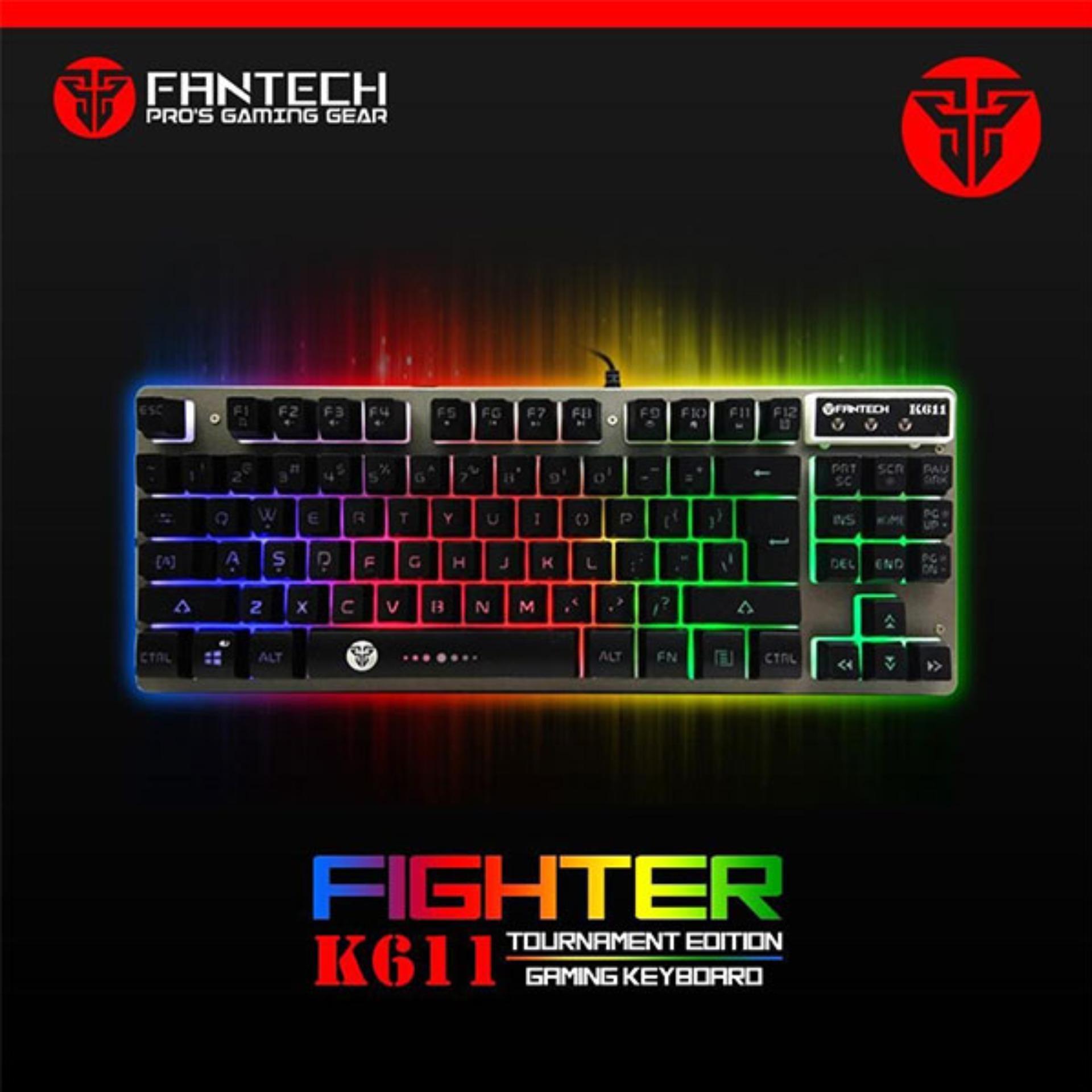 e16f0153600 FanTech Fighter K611 Keyboard Backlit Floating-Keys Multimedia Gaming  Keyboard with Chroma Backlighting Tournament Edition