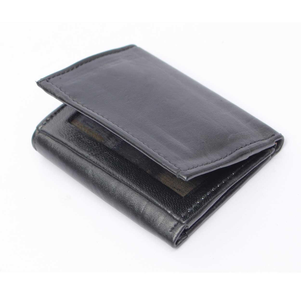 9c6e116cbf0 Fast Forward Men s Credit Business Card Cases Leather Three Fold Cards  Holder Wallet Black
