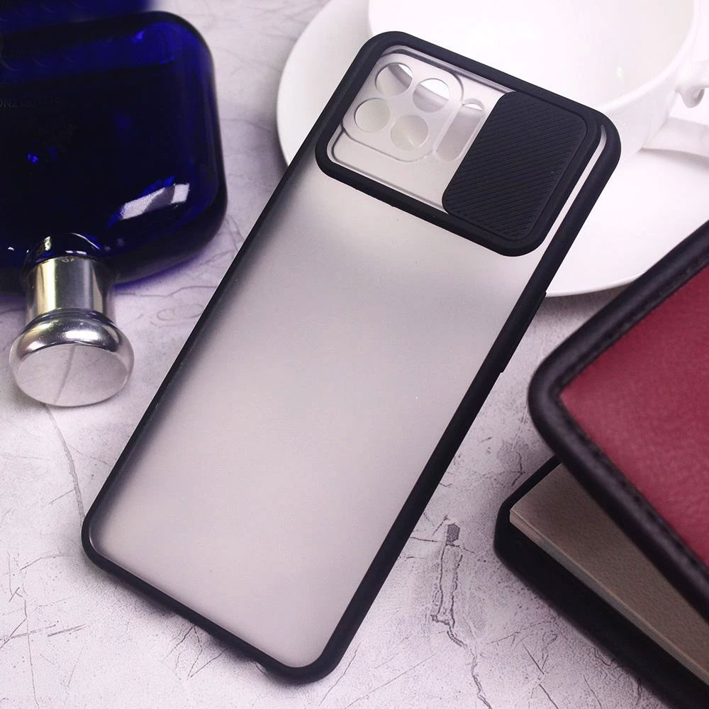Slide Camera Lens Protection Shockproof TPU Phone Case for Oppo A73 Case  Color Matte Transparent Cover: Buy Online at Best Prices in Pakistan