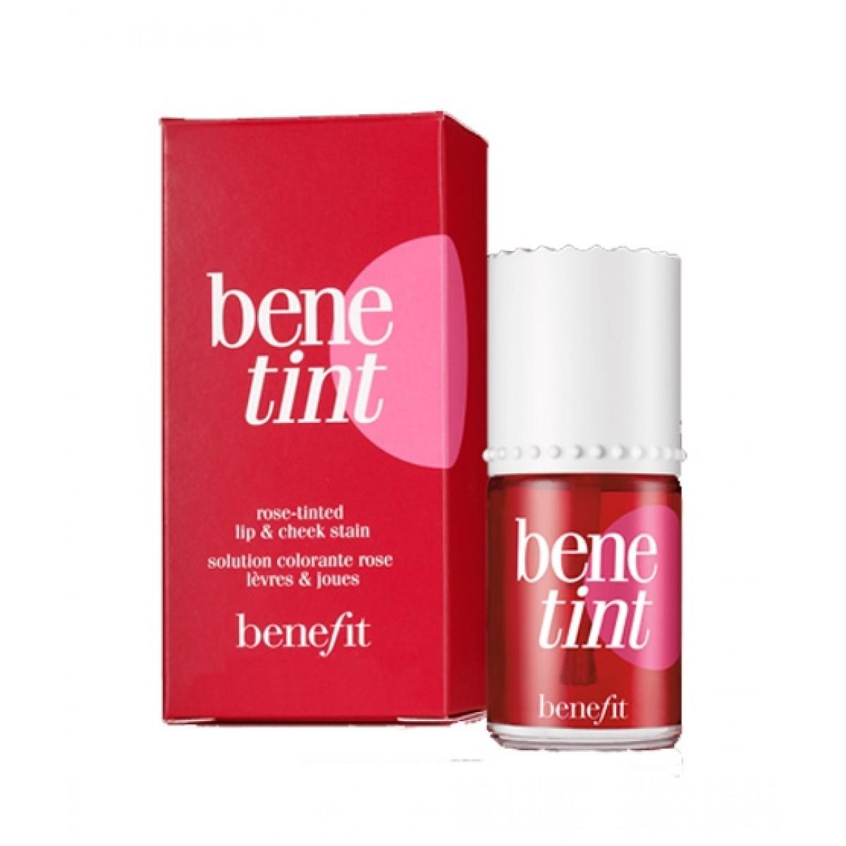 Bene Tint Lip & Cheek Stain Rose Red Cheeks & Lip Tint Long Lasting Rose Tinted