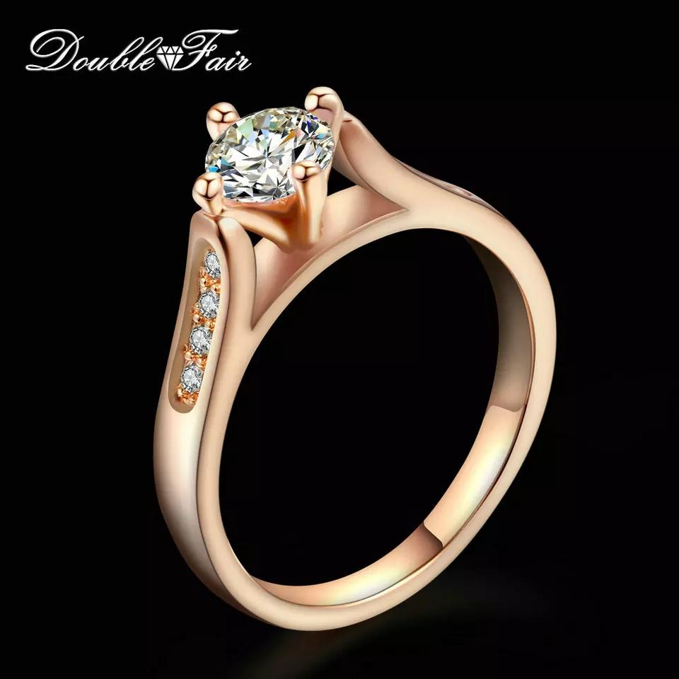 Double Fair .8 Carat Engagement Wedding Ring