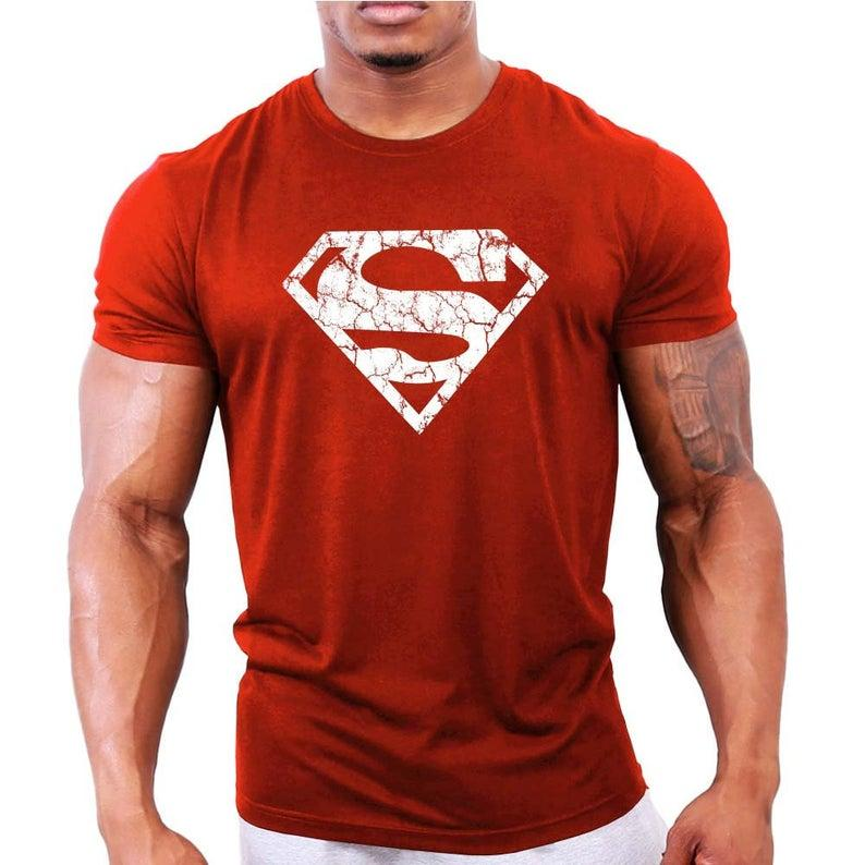 Superman Vascular Mens Bodybuilding T-Shirt - Gym  Workout  Fitness  Motivation