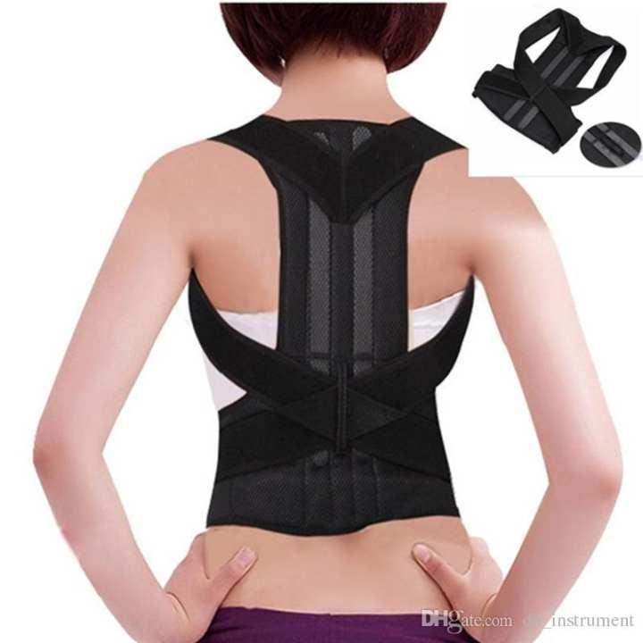 Shoulder Back Belt Back Support Waist Brace Adjustable Posture Corrector Pain Relief Ortho
