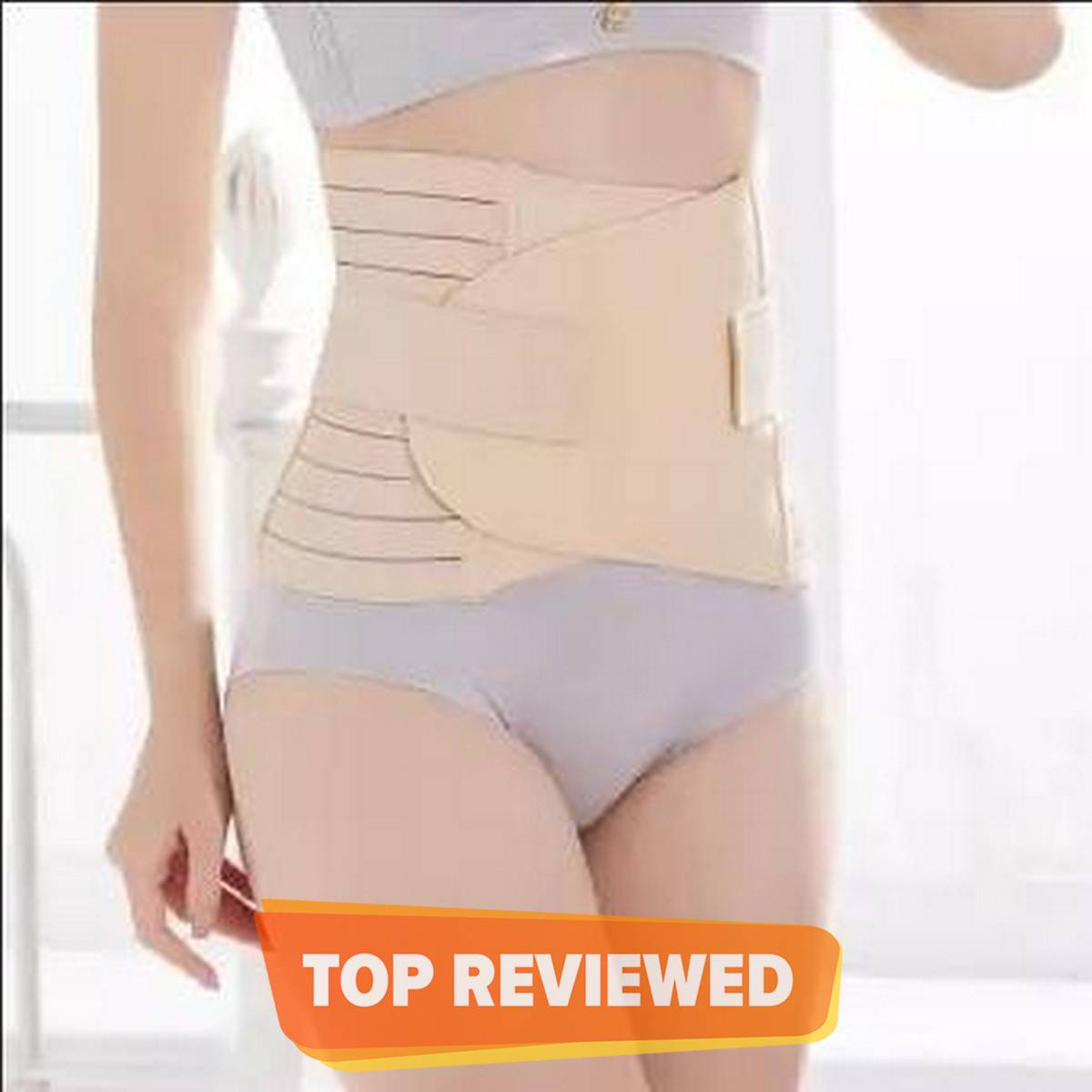 3 in 1 Postpartum Recovery Body Shaper Belt (Slimming Maternity Band Belly Waist Shape Wear) Best for under 37 waist size