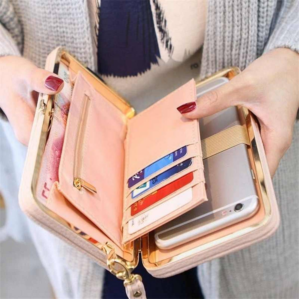New Brand Designer Mobile Phone Case Large Capacity Women Wallet Leather Bracelet Clutch Bag Female Fashion Lady Long Bag Hot Sale