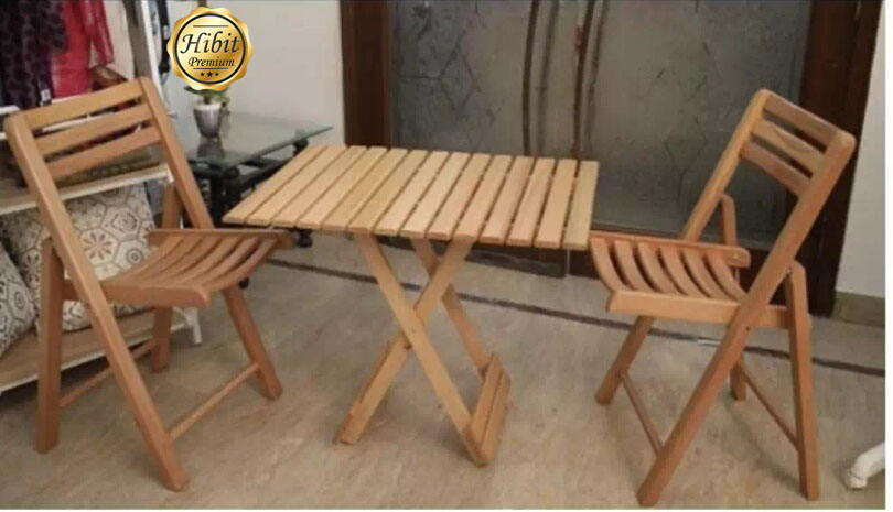 Folding Table And Chairs Imported Beech Wood