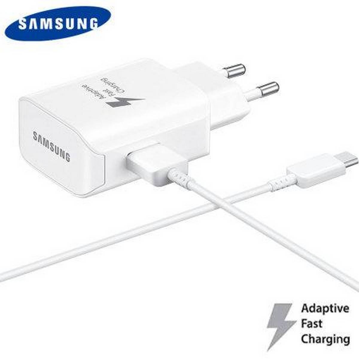 Fast Charger With Micro USB Data Cable - White