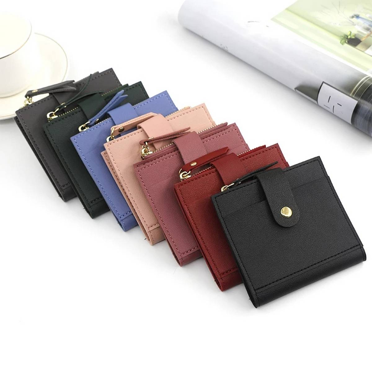 Short Mini Card Holder and Wallet for Women and Girls