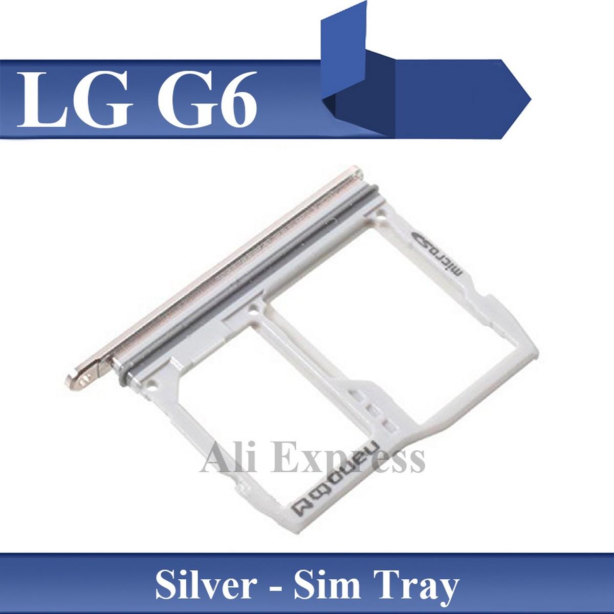 LG G6 SIM Tray Sim Jacket Sim Slot Sim Door For LG G6 - Silver