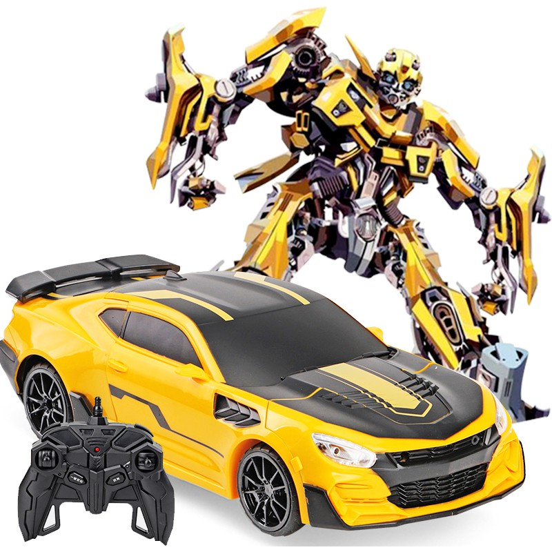 Robot Car Rc Remote Control Transformer  Car Robot - Rechargeable Action Figure Toy, Bumblbee Transformer Robot Toy