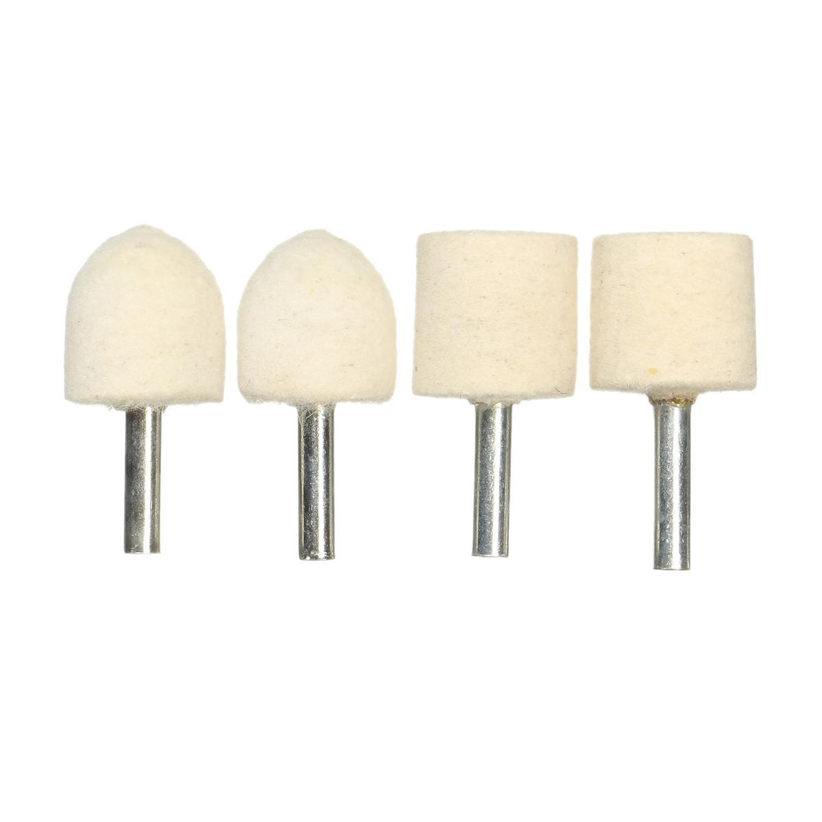 4PCS 5mm Shank Wool Felt Polishing Buffing Wheel For Grinding Grinder Tool  Kit