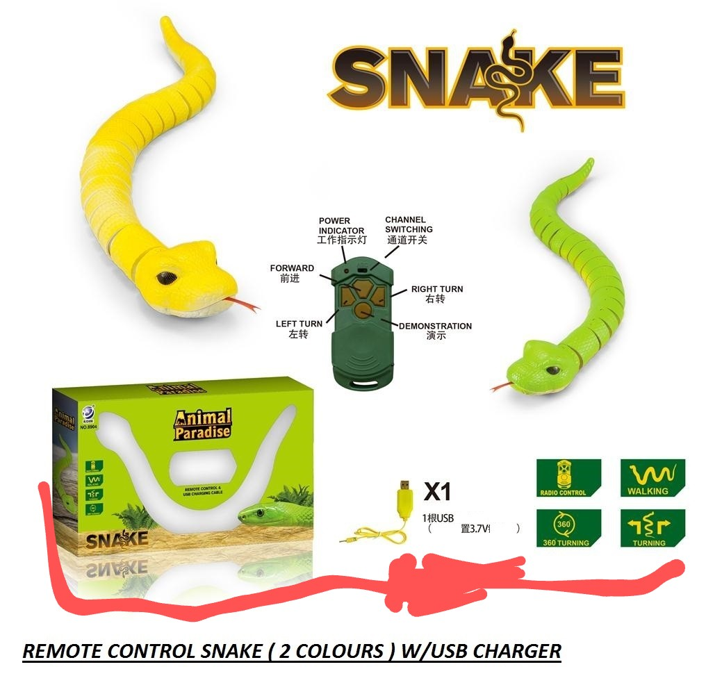 Animal Toys Remote Control King Snake Rechargeable