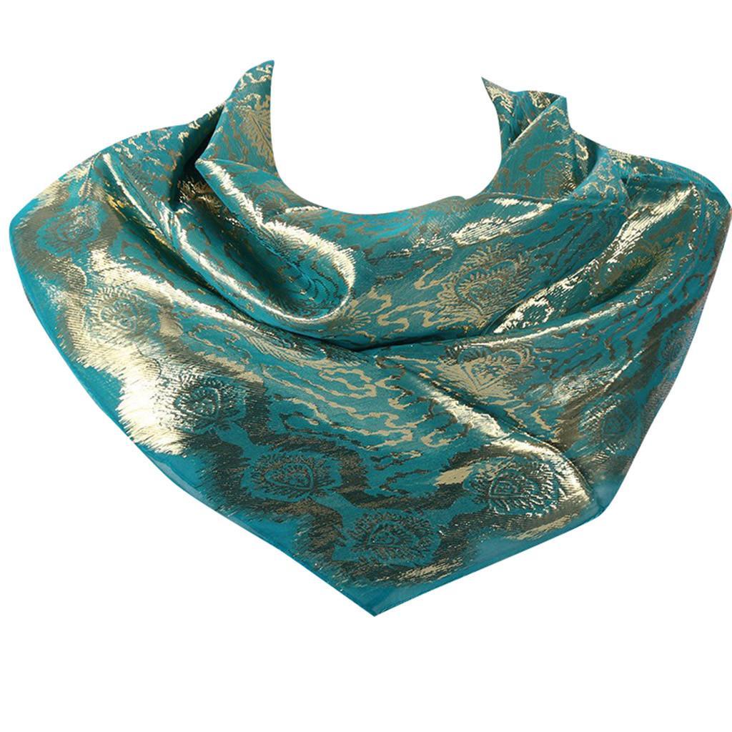 Women Chiffon Muslim Hijab Scarf Shimmer Sparkle Glitter Plain Shawl Head Wraps