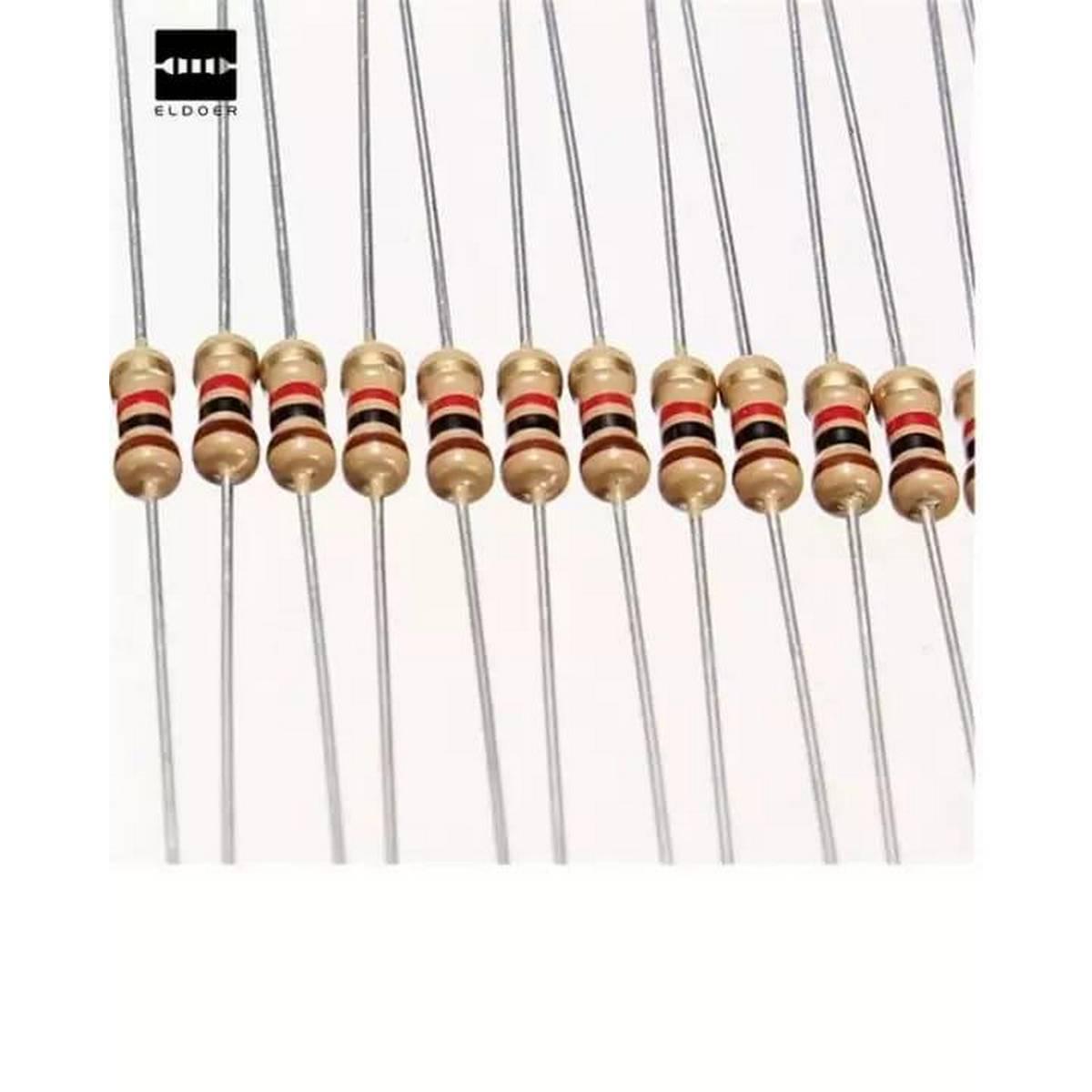 Pack Of 25 Pcs - Resistor 10K Ohm Resistance - 1/4W