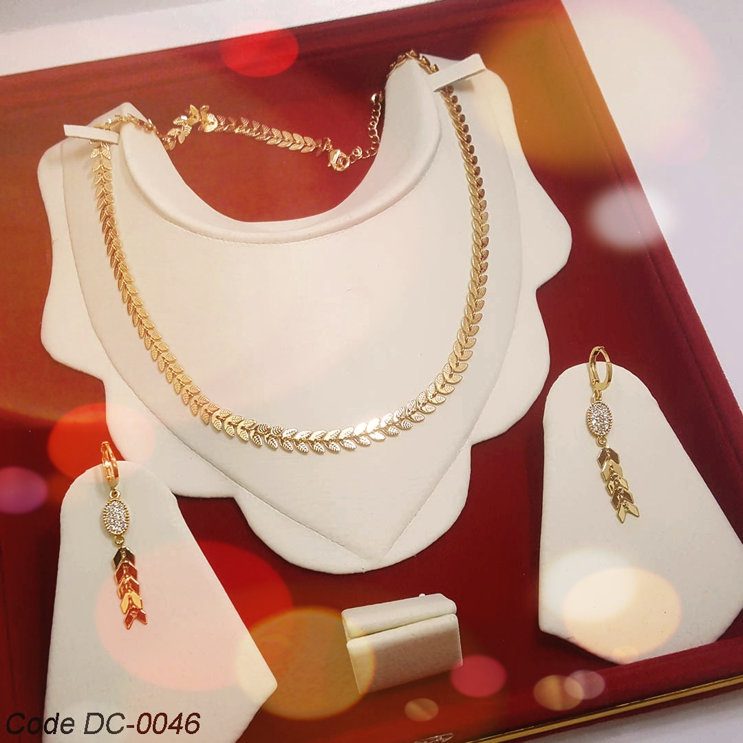 Gold Plated Jewelry Set ,with Earring for Women & girls ,Birdal Set,: Buy  Online at Best Prices in Pakistan | Daraz.pk