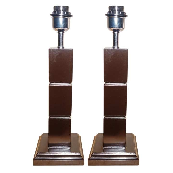 Wood Table Lamp Color Chocolate Brown