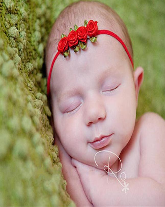 Rose Flower newborn Headwear children headwrap hairband