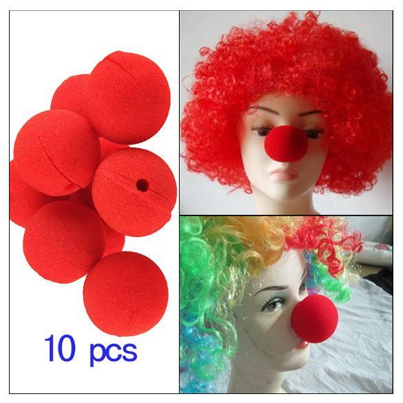 10Pcs Sponge Ball Clown Nose For Christmas Halloween Party Costume Decoration
